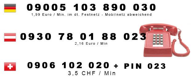 Telefonsex Kaviar Nummern für Deutschland, Österreich u. Schweiz