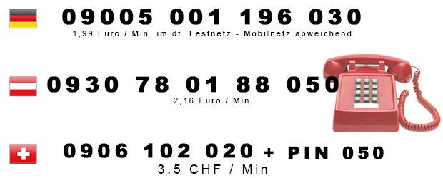 Schwarze Schokolade für Telefonsex in Deutschland, Österreich und Schweiz