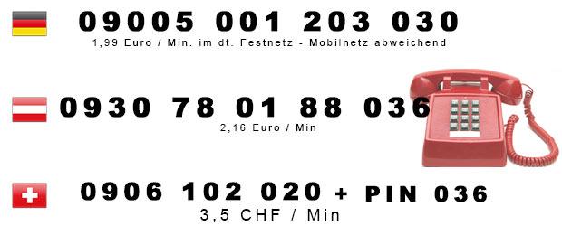 Nummern für versauten Telefonsex in Deutschland, Österreich u. Schweiz