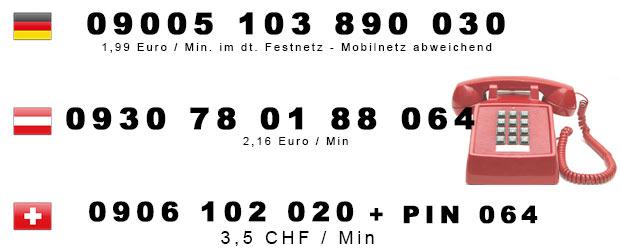 Telefonsex Nummern von Transen für Deutschland, Österreich u. Schweiz
