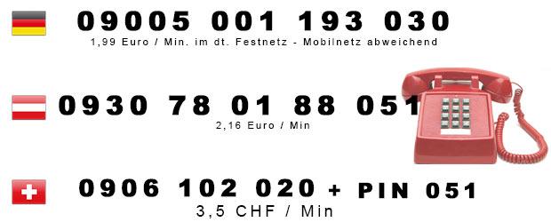 Telefonsex Hausfrau Festnetz Nummern Österreich, Deutschland und Schweiz
